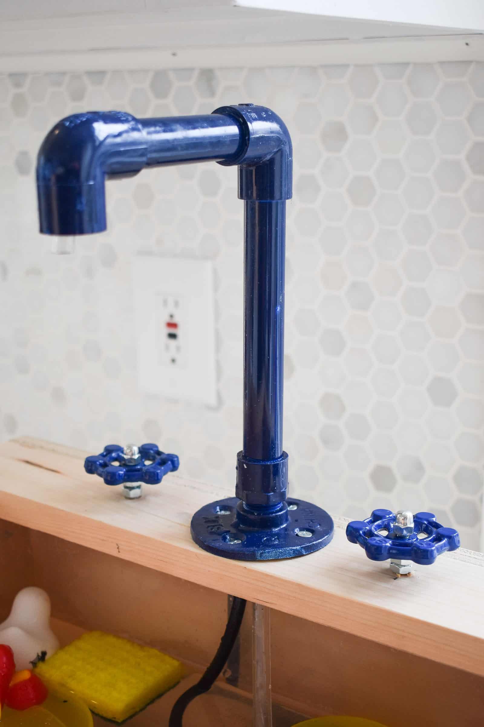 PVC pipe faucet