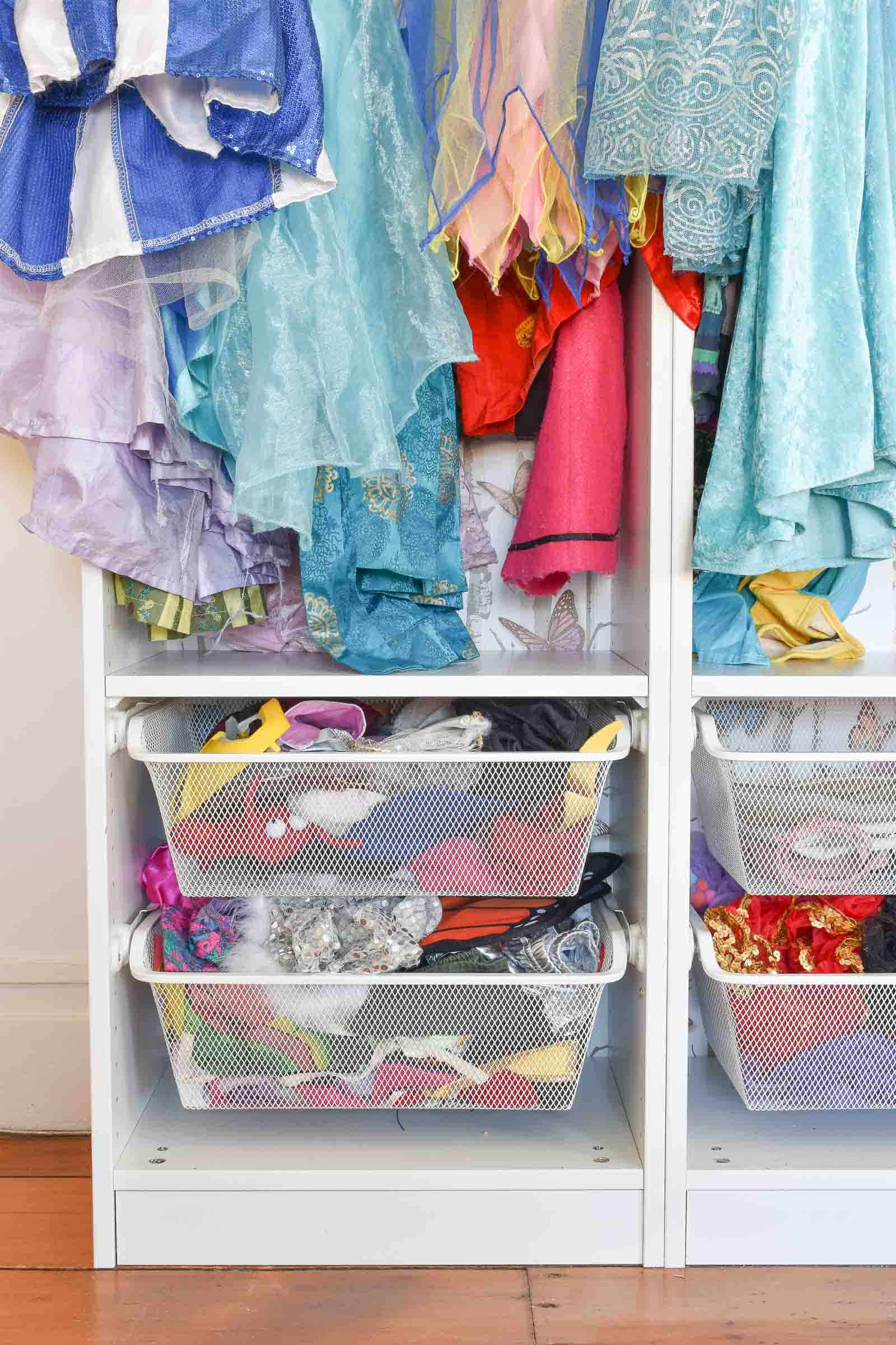 drawers in dress up storage
