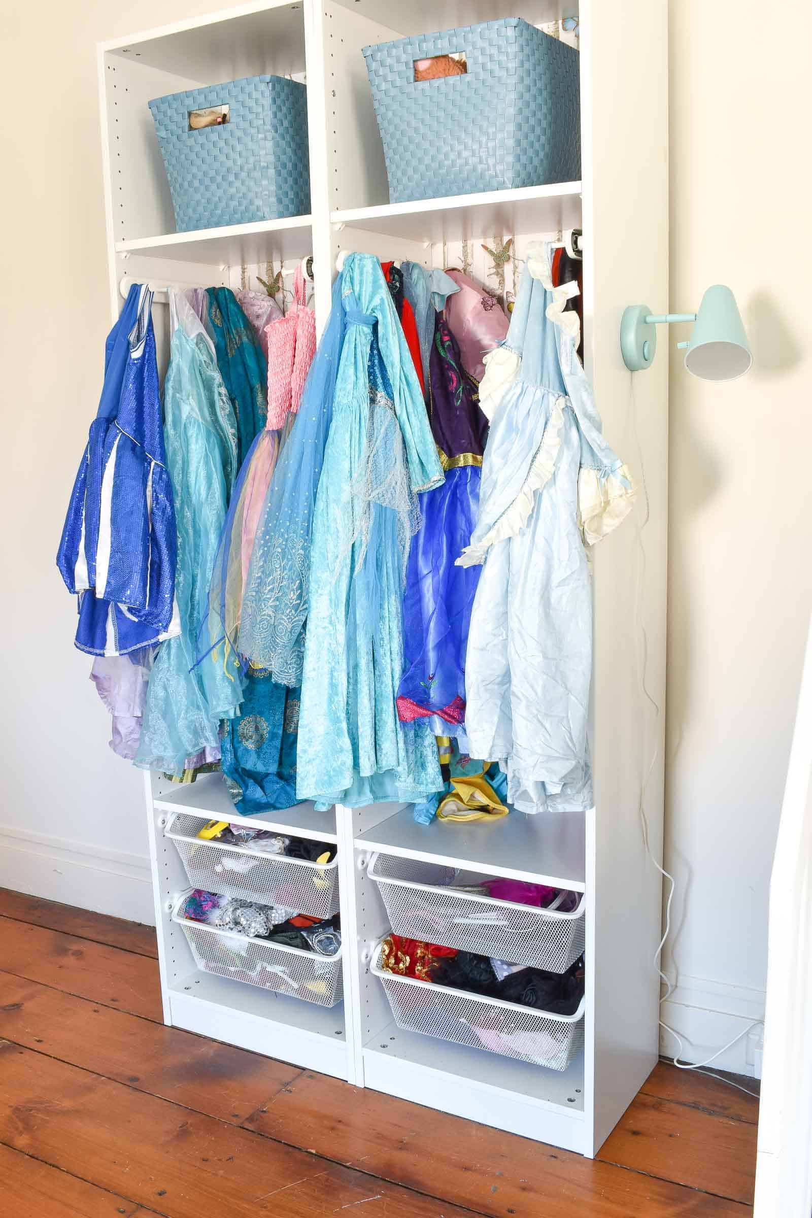 light for dress up storage