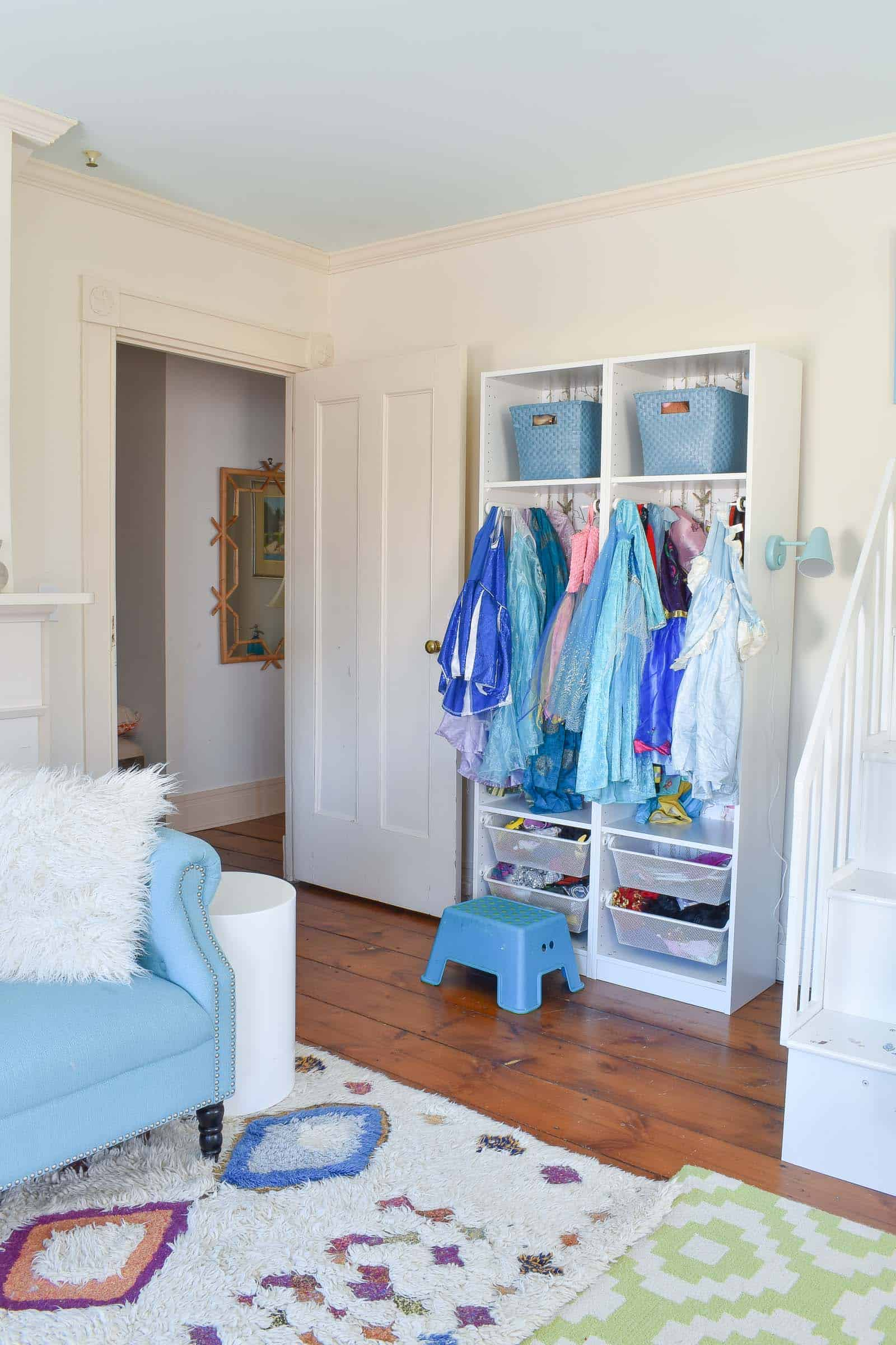 dress up storage for the girls room