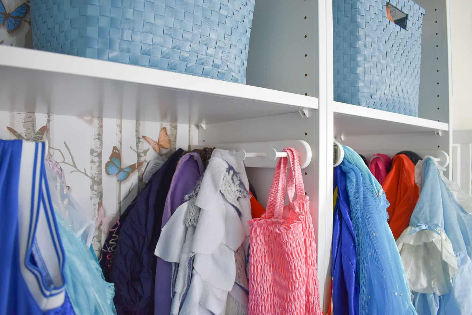 pull out hooks for dress up storage
