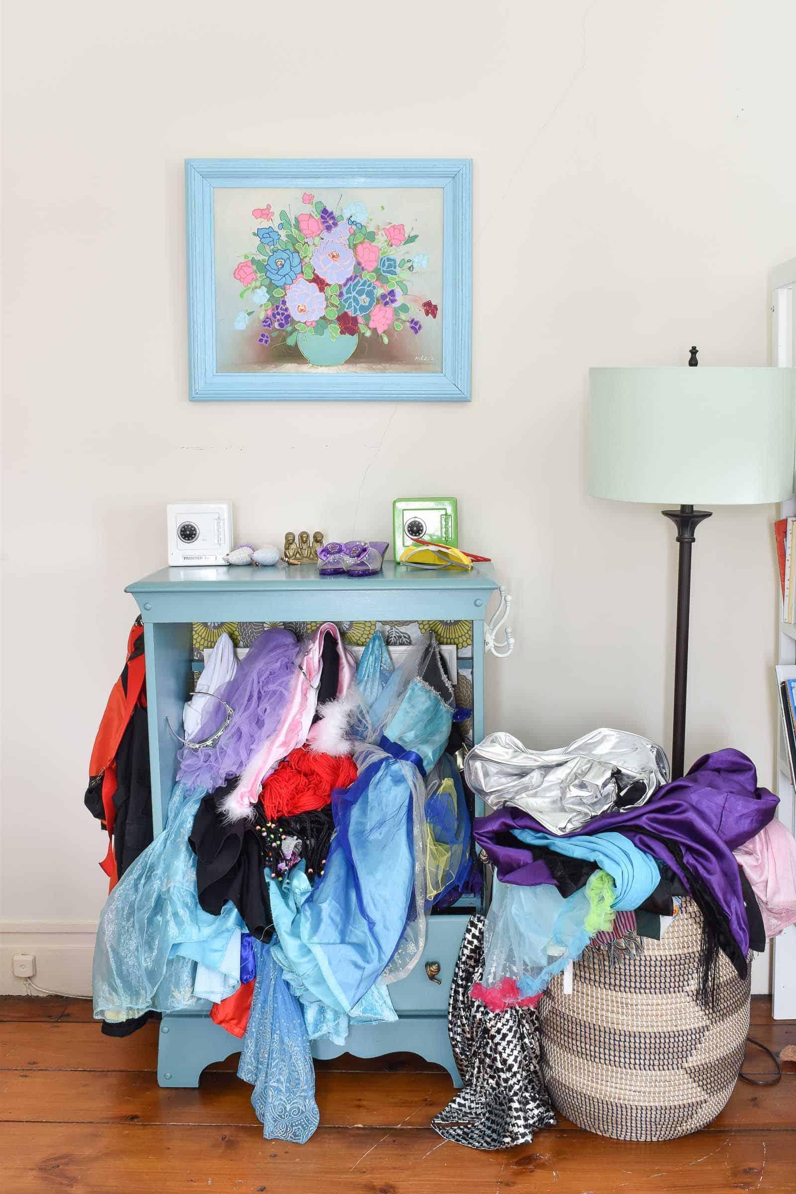 overflowing dress up dresser
