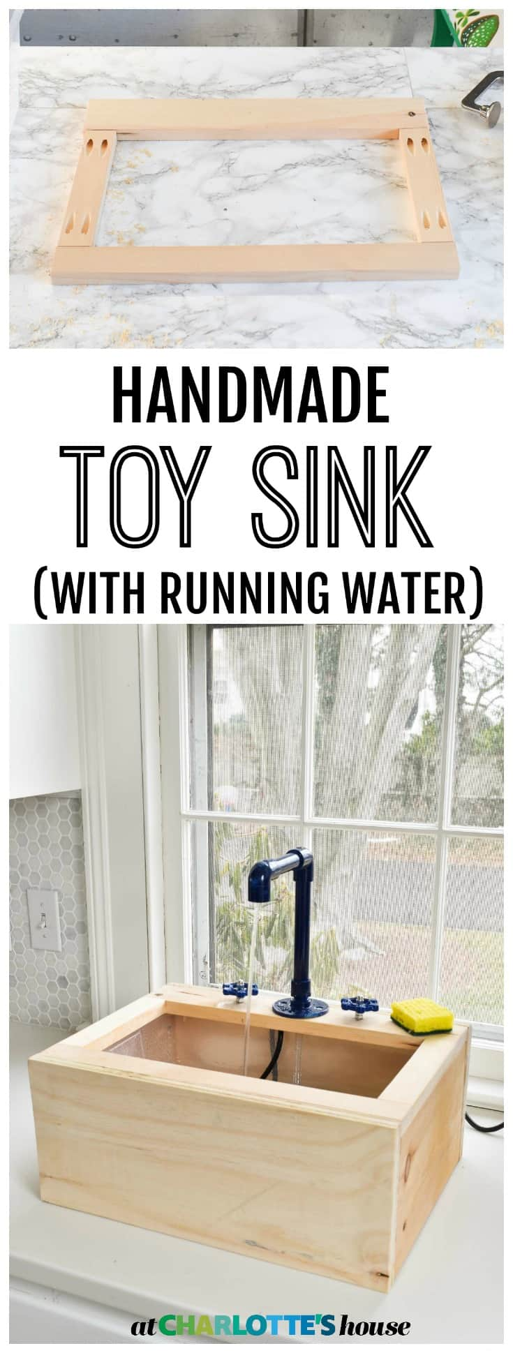 Make your own working toy sink
