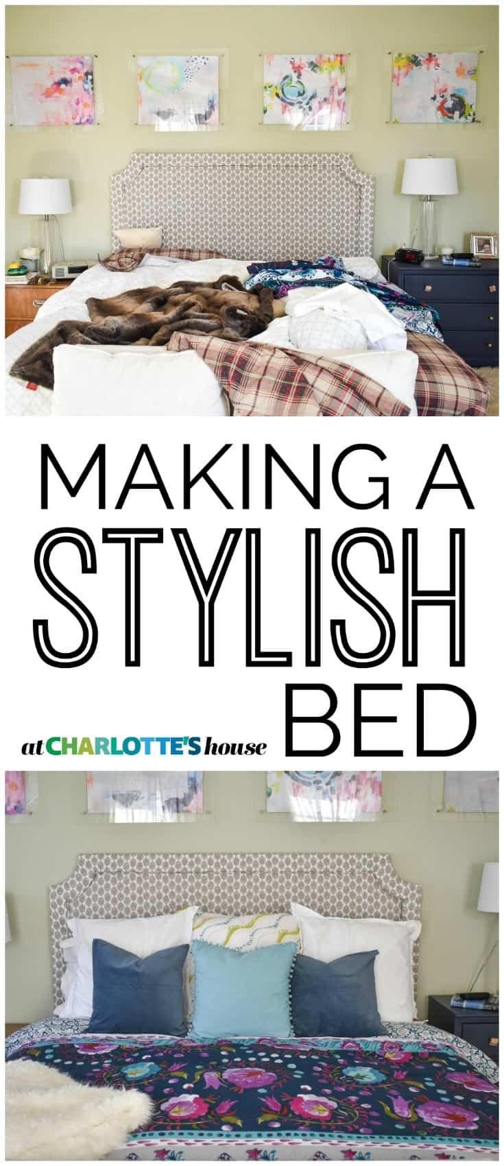 simple tips to make your bed look magazine worthy!