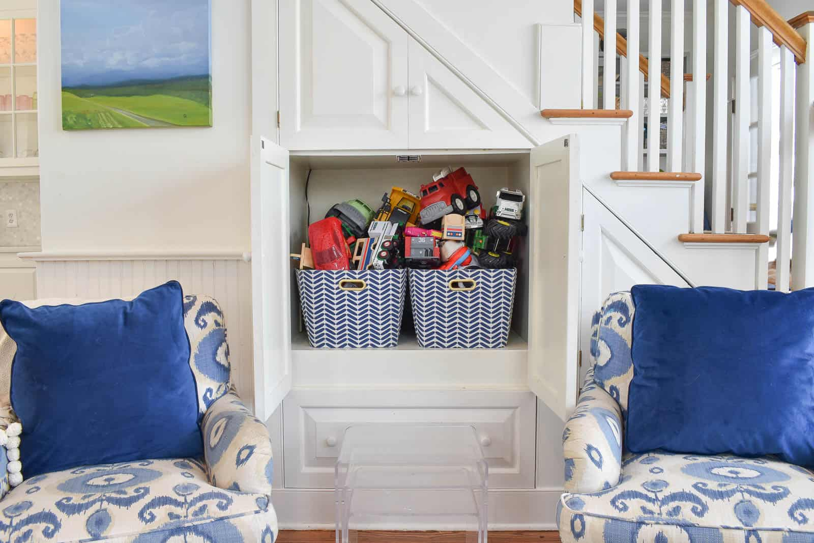 family room storage solution