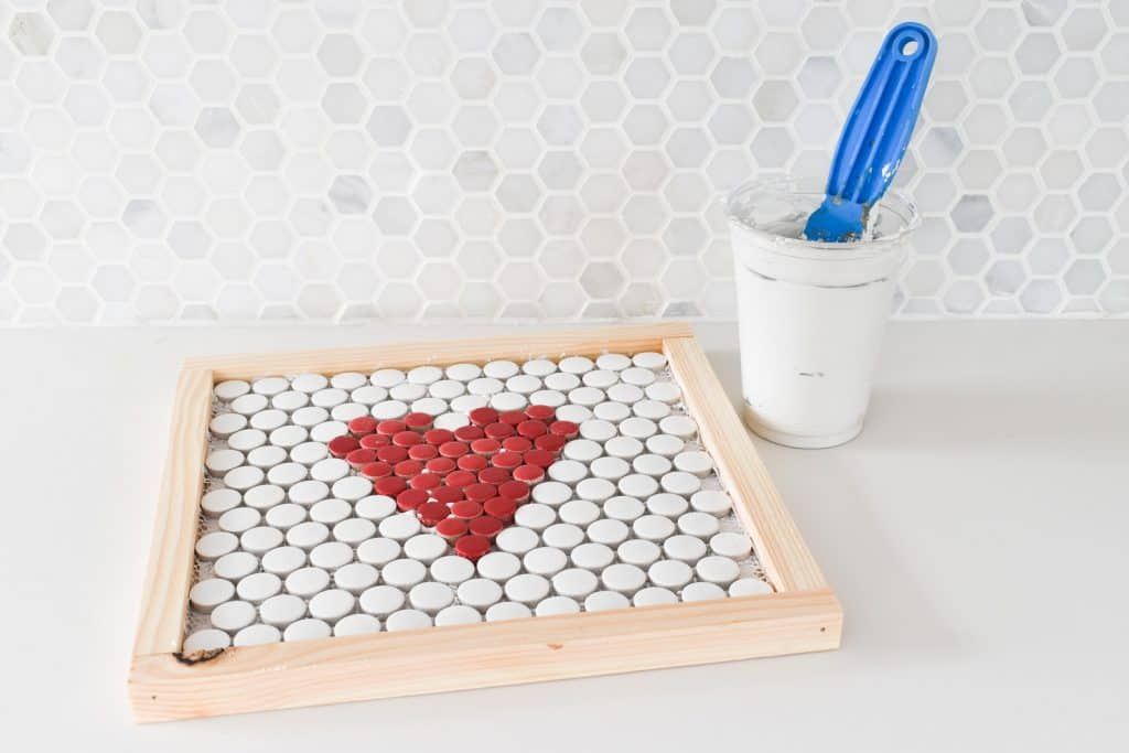 mix grout for penny tiles
