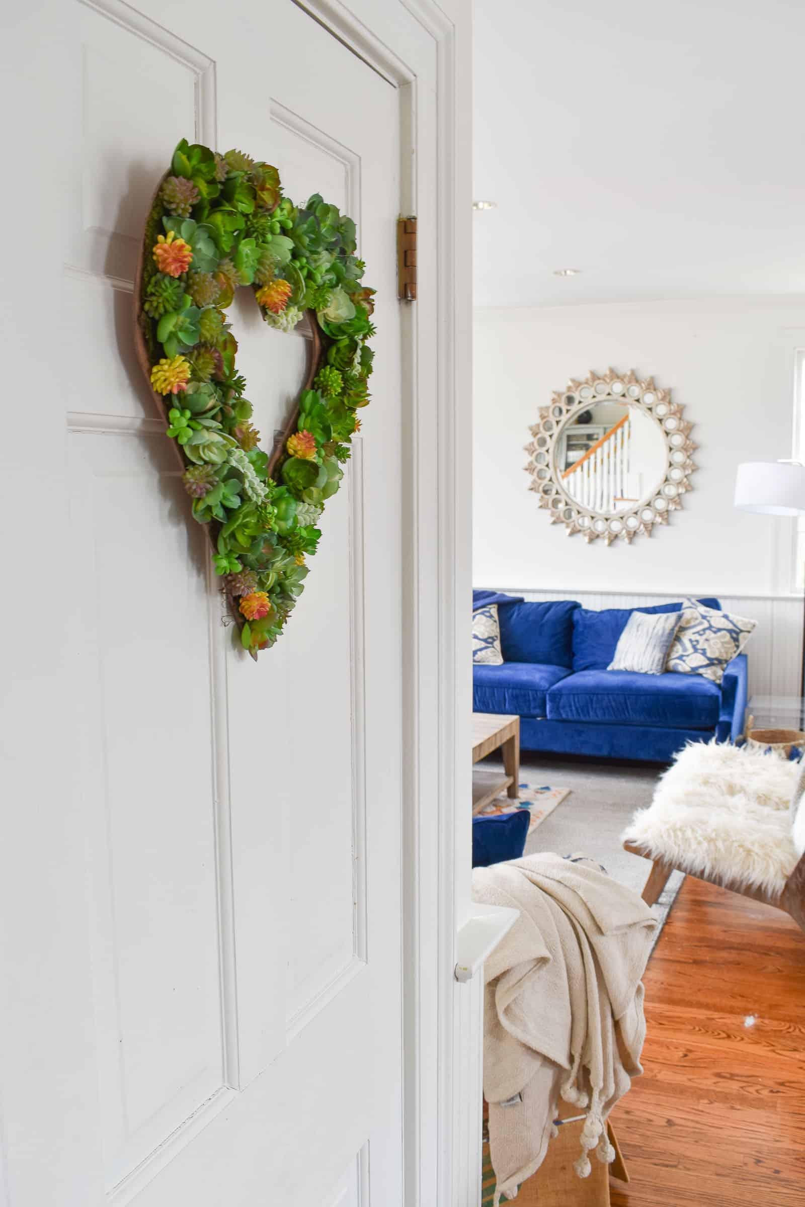 decorated succulent wreath