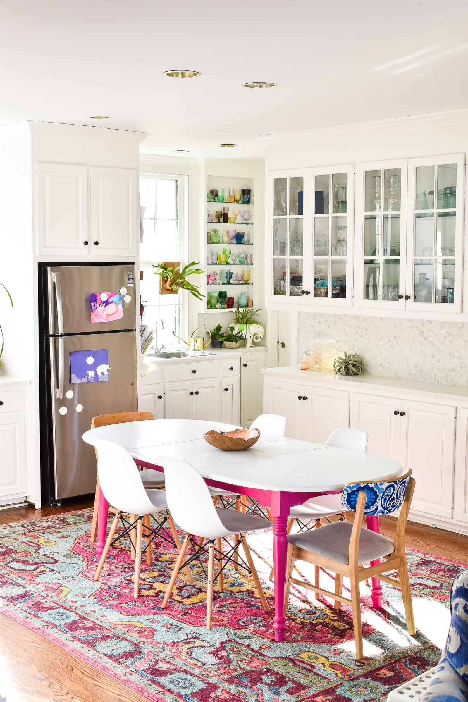 white bright kitchen reveal