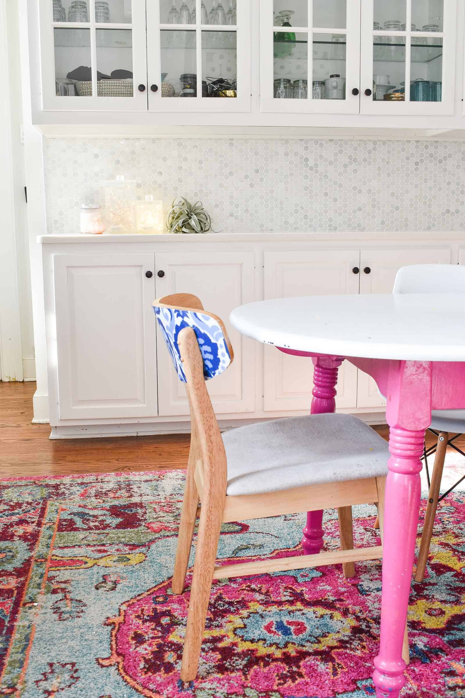 chair and table makeover for updated kitchen