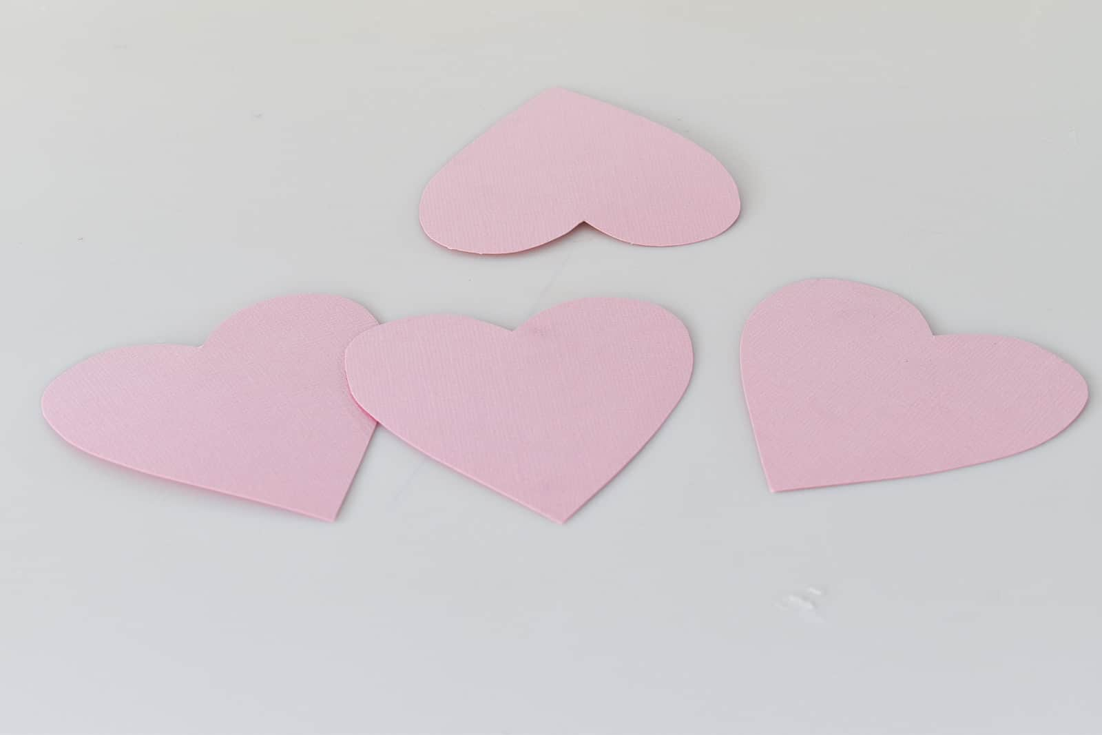 cut out paper hearts