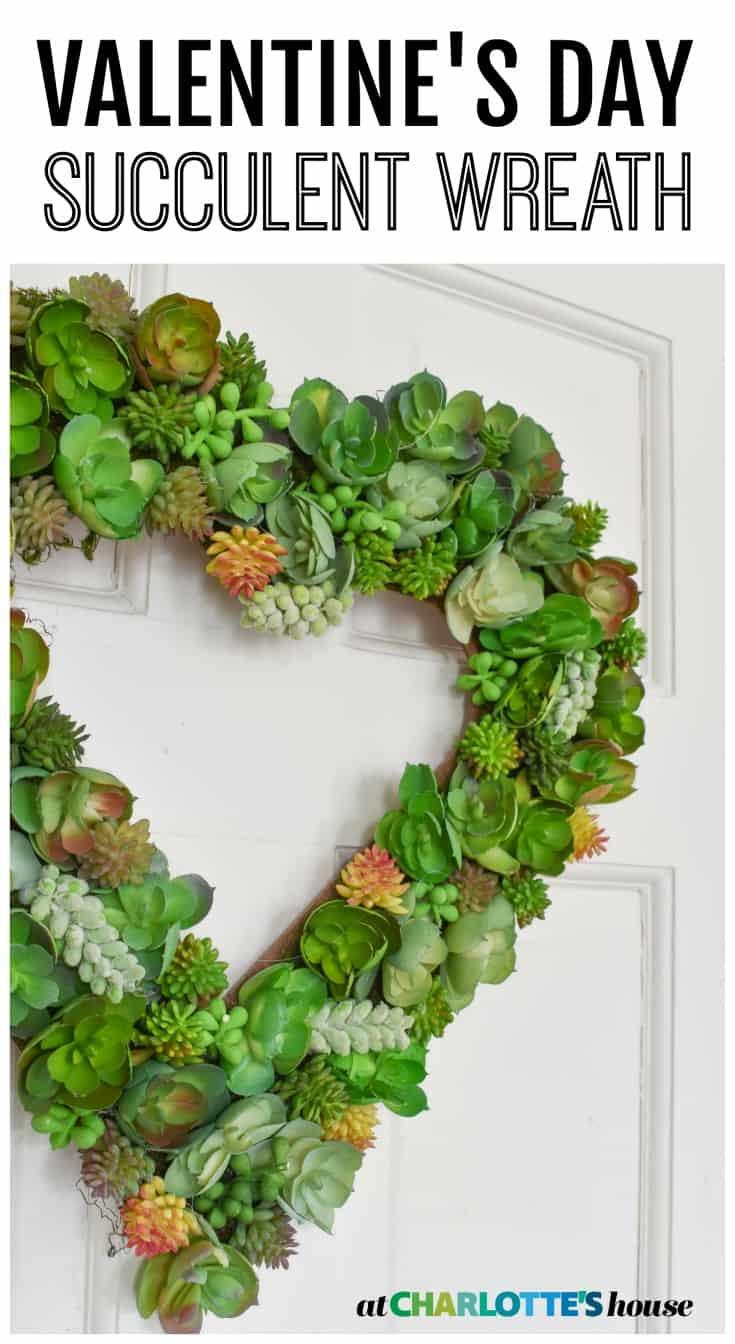 make a fun succulent wreath for valentine's day