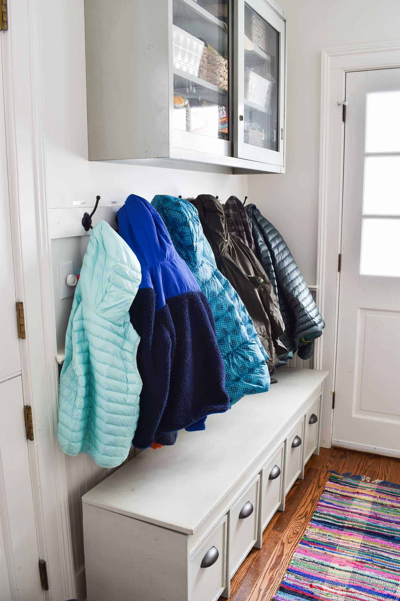 coats in mudroom
