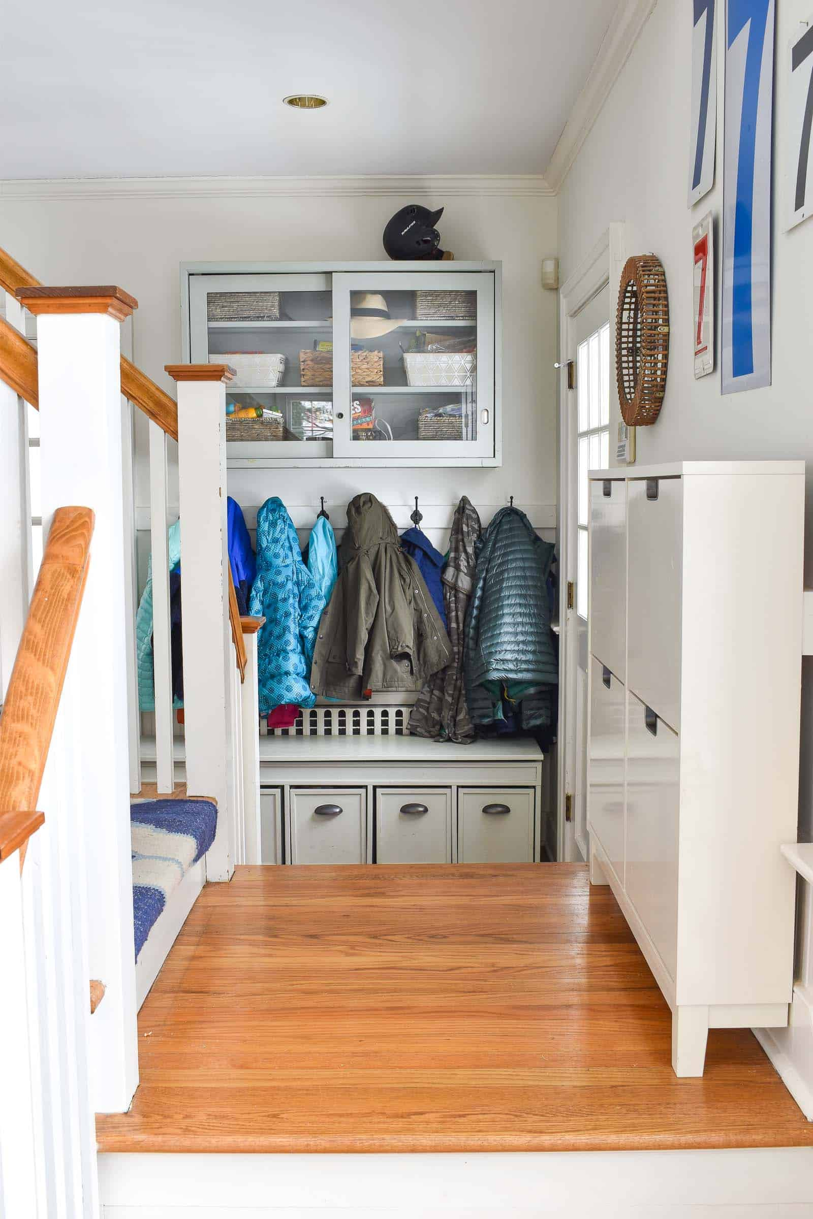 mudroom storage during the winter