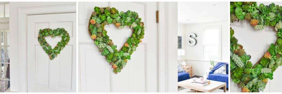 Valentine's Succulent Wreath