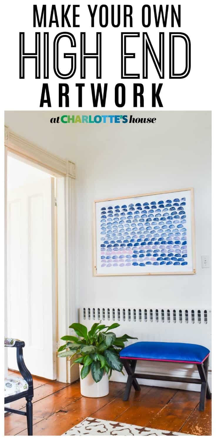 this stamped art was really easy to make and has such a chic impact on the wall