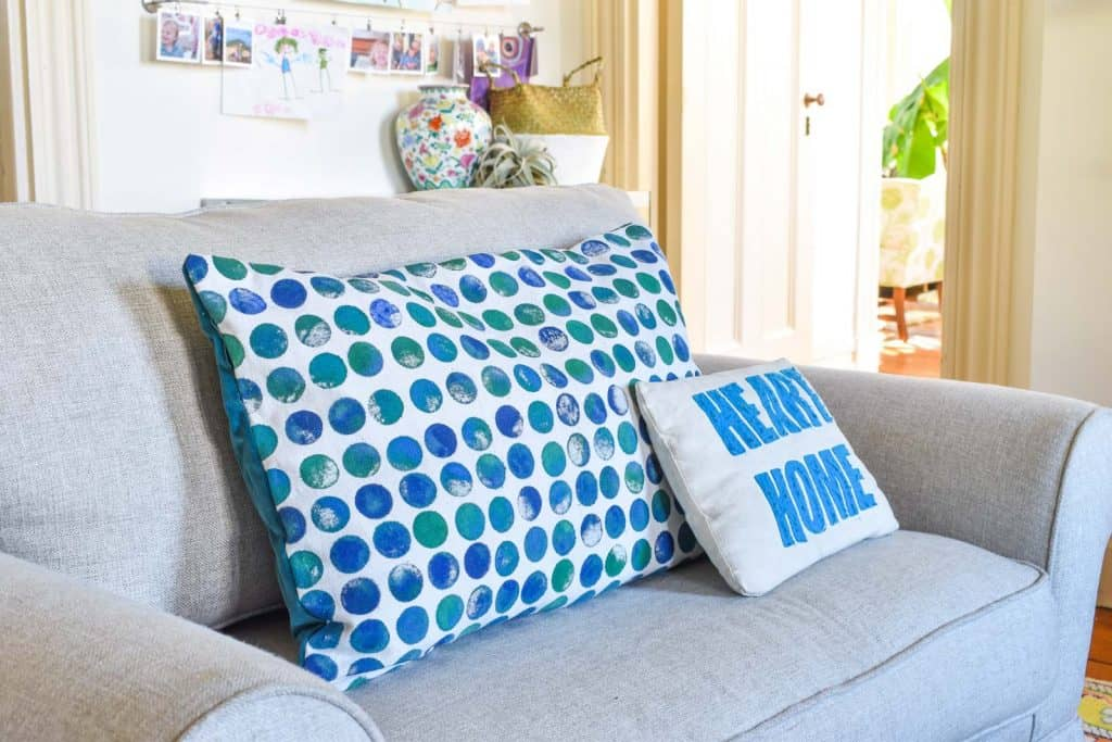 make your own stamped fabric