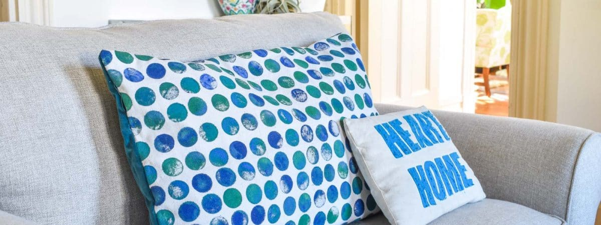 DIY Stamped Fabric
