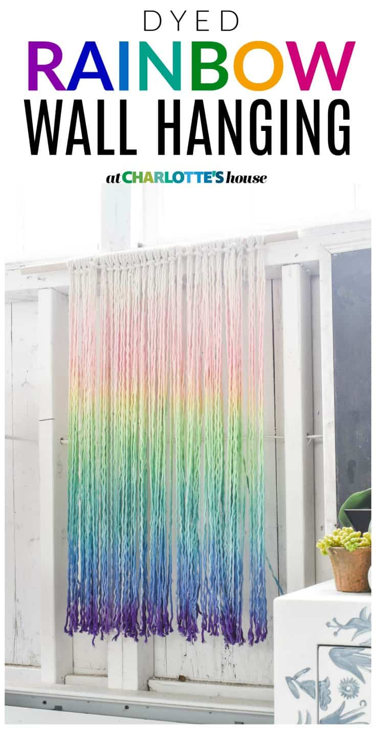 colorful Diy dyed rainbow wall hanging... i love the colors and texture of this wall hanging