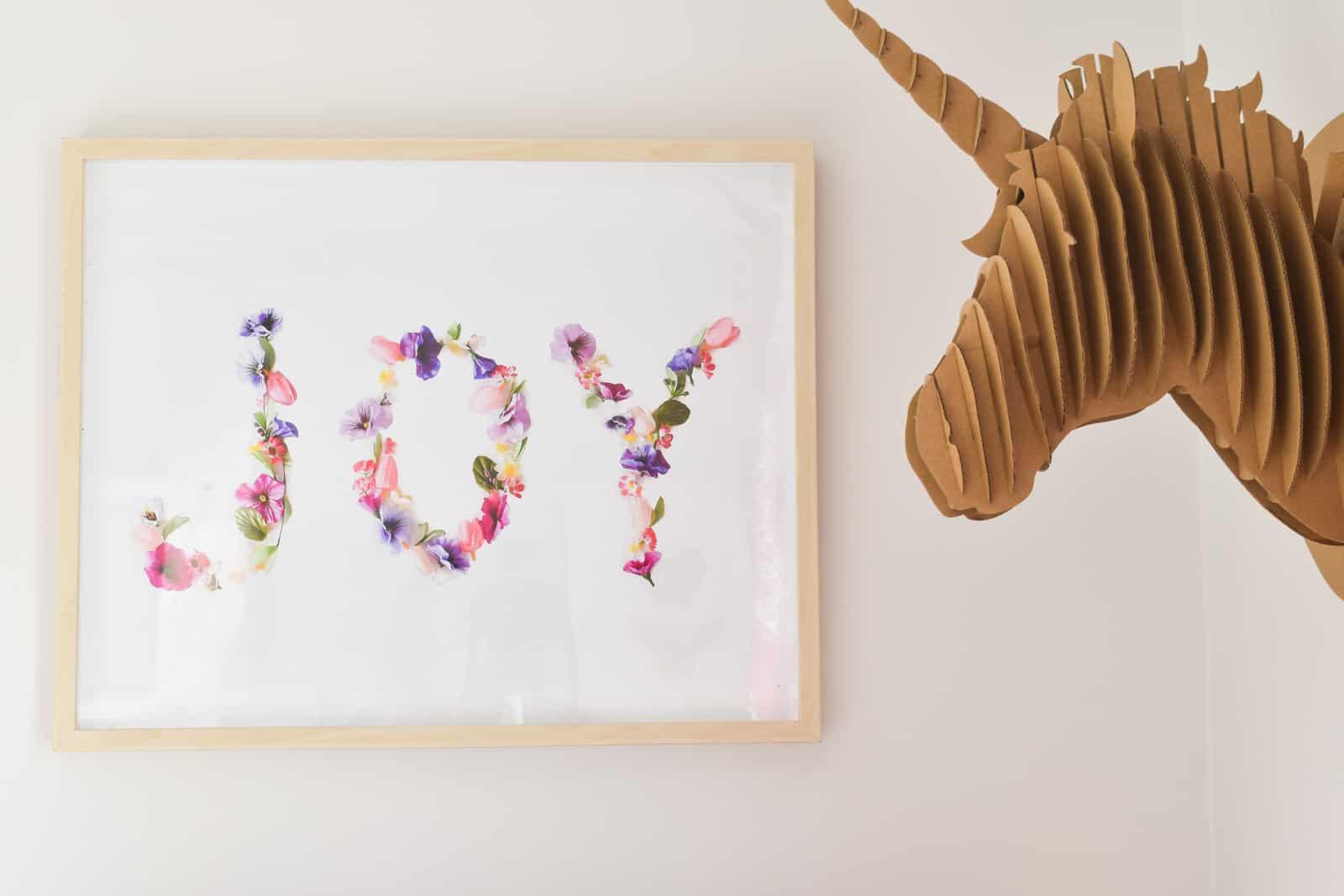 floral word art