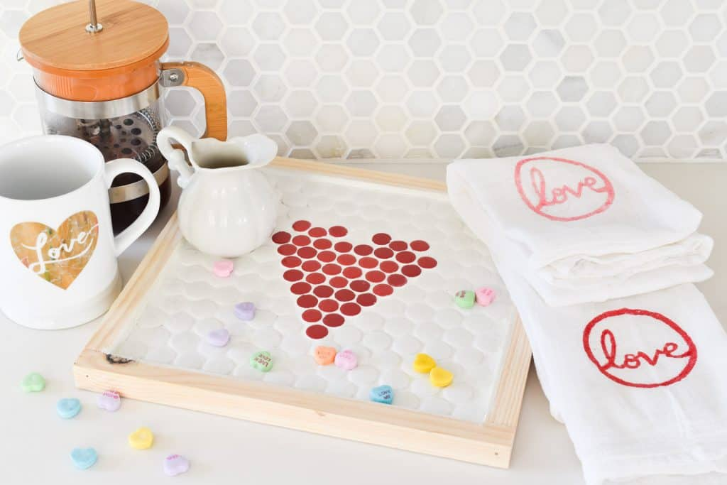 Sweet Valentine's Tiled Tray