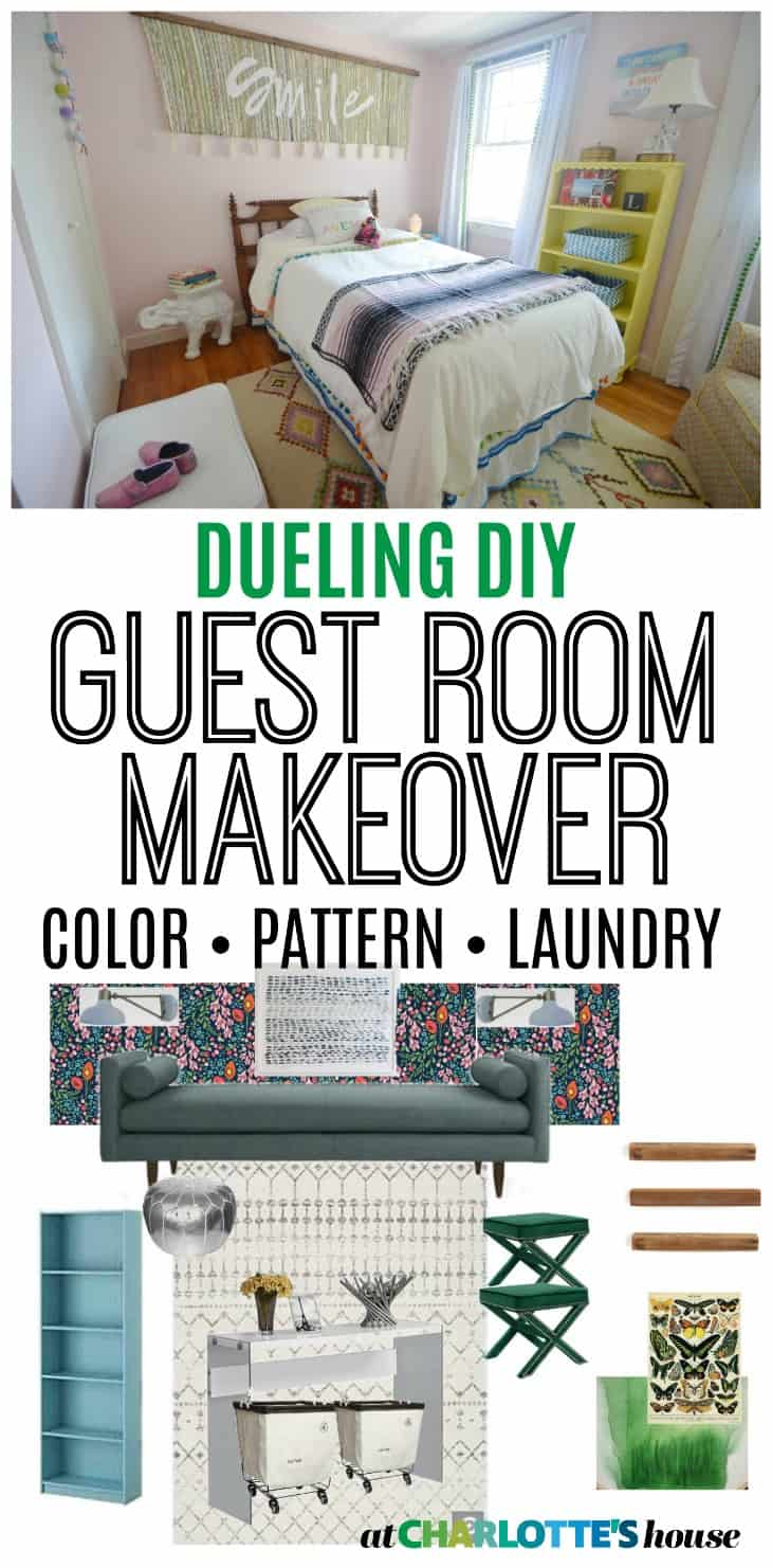 Dueling diy guest room gauntlet at charlotte 39 s house for Diy guest bedroom ideas