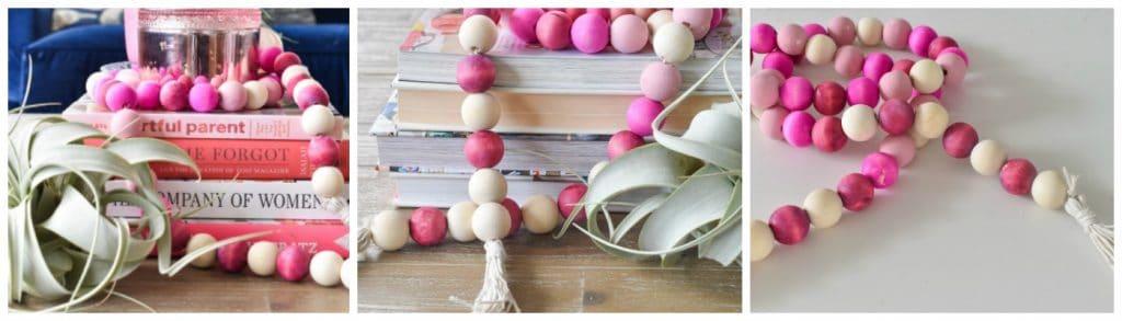 Wooden Valentine's Beads