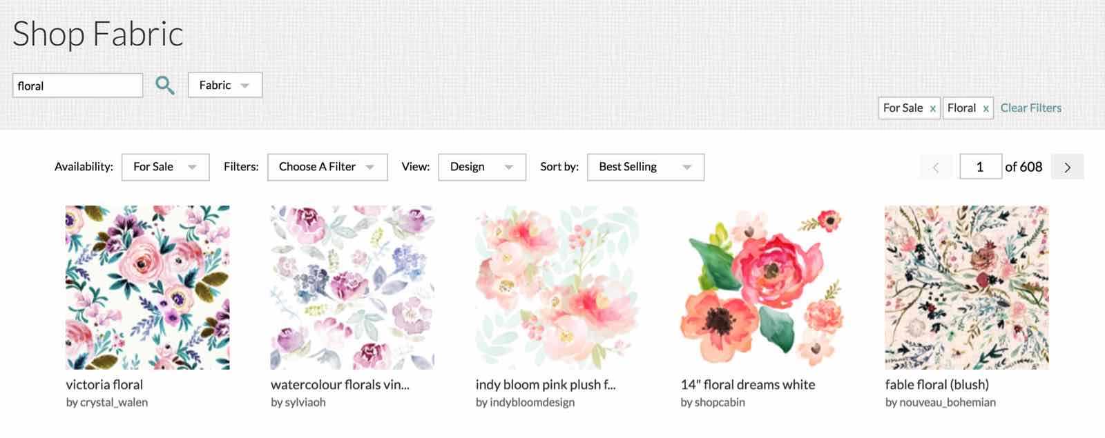 floral search terms