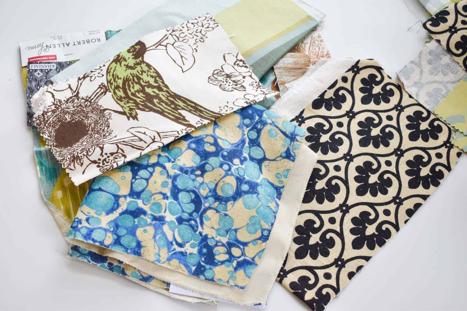choosing fabric samples online