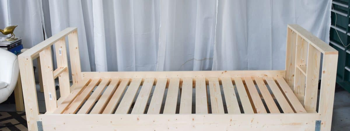 DIY Upholstered Daybed Frame