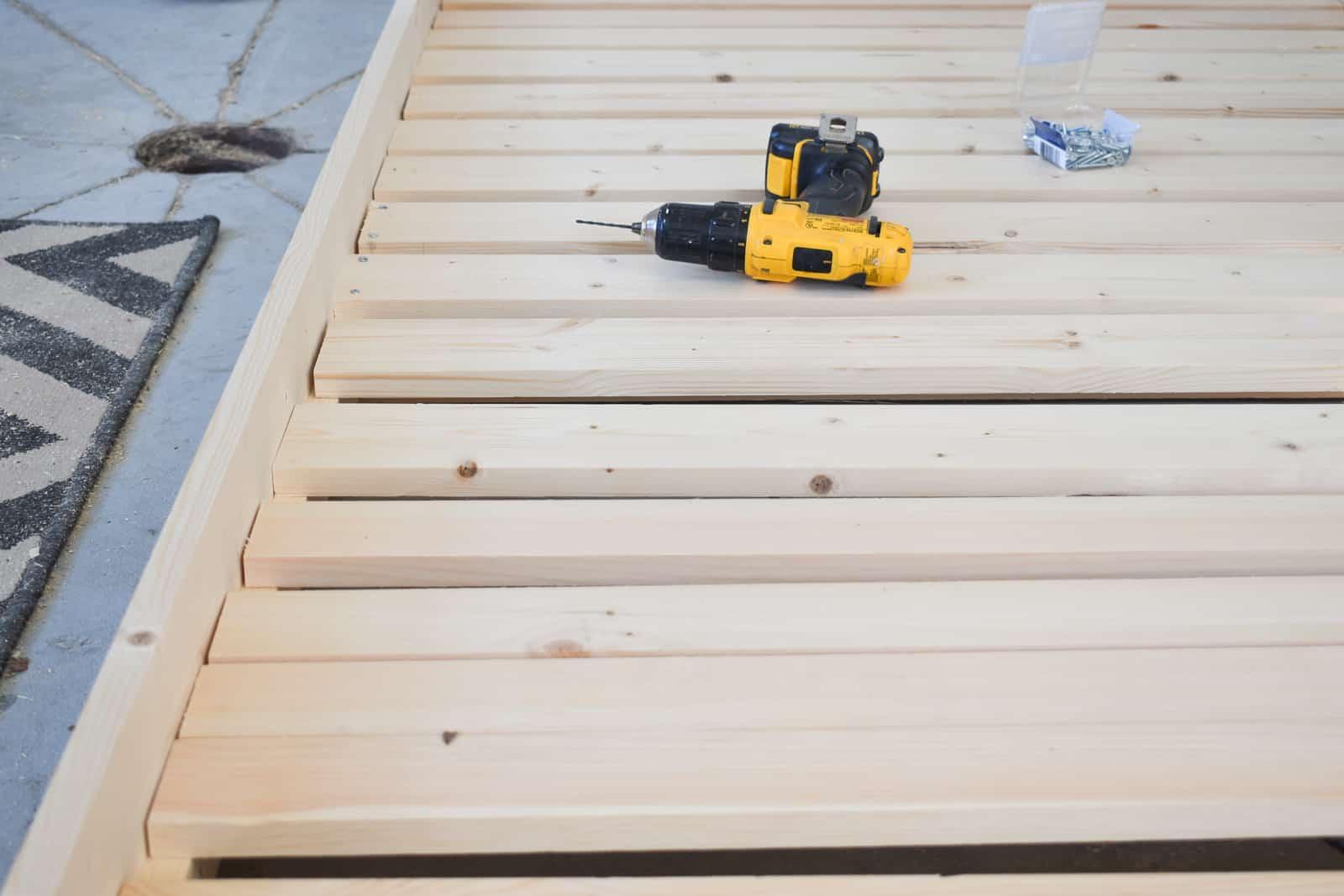 screw slats in place
