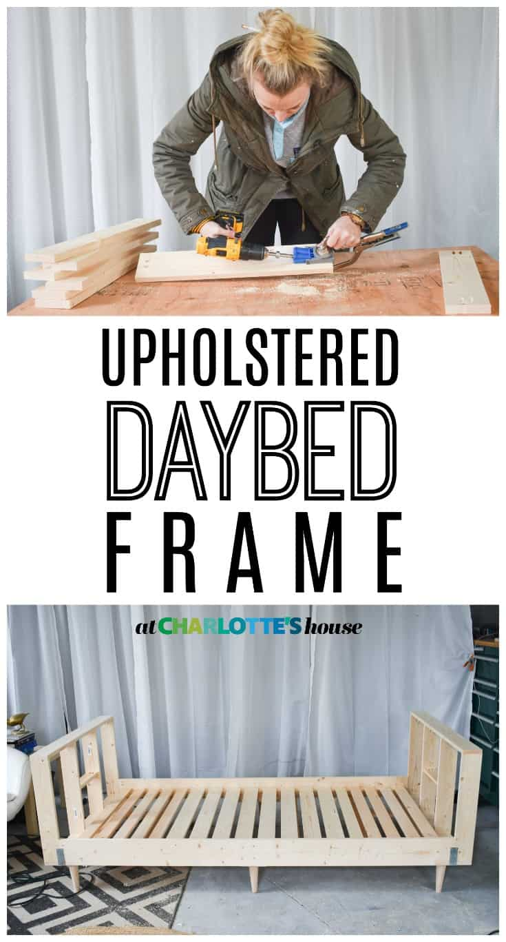 See how I built a frame for a daybed that I will ultimately get upholstered