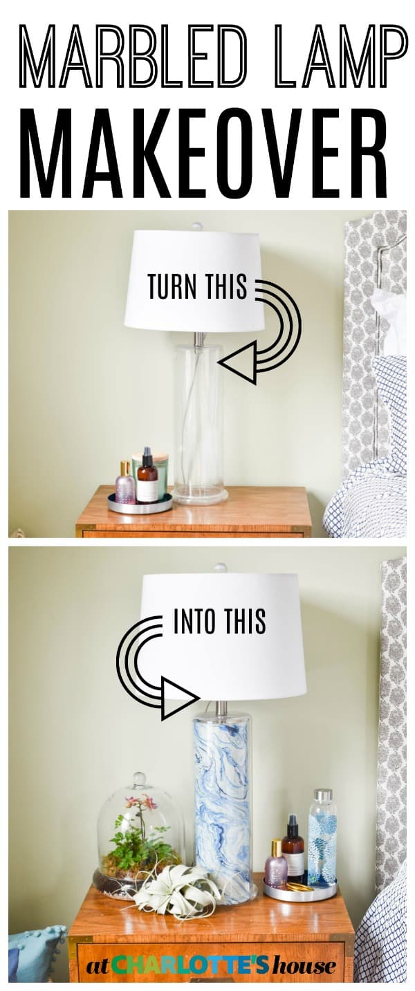 simple lamp makeover