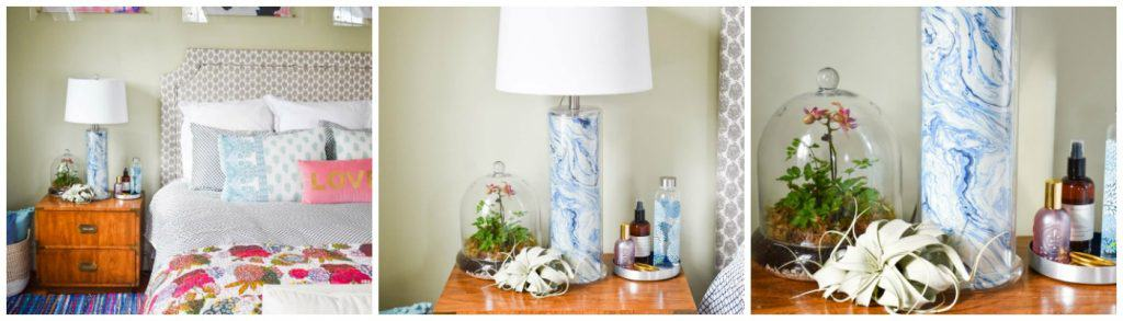 Marbled Lamp Makeover