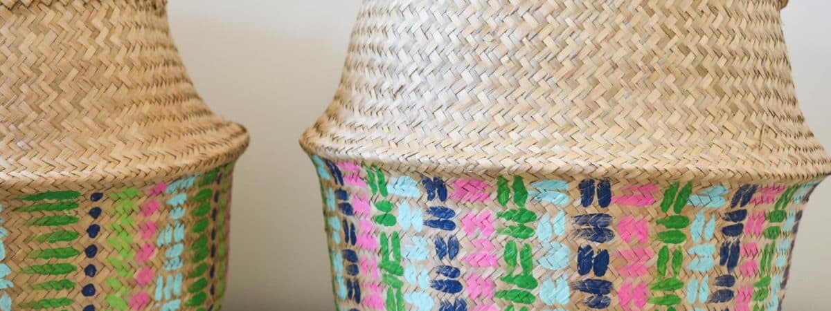 Colorful Painted Basket Update