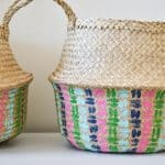 painted patterned basket