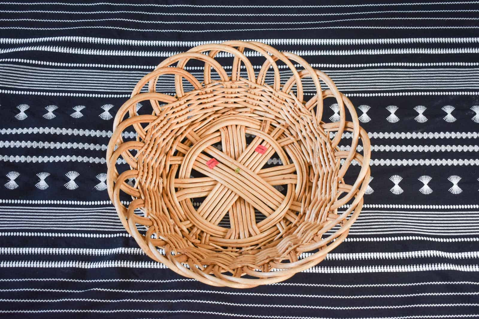 thrift store rattan basket