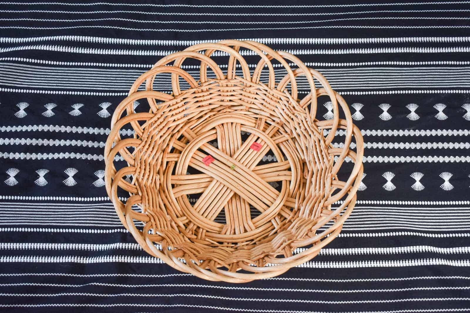 thrift store rattan basket