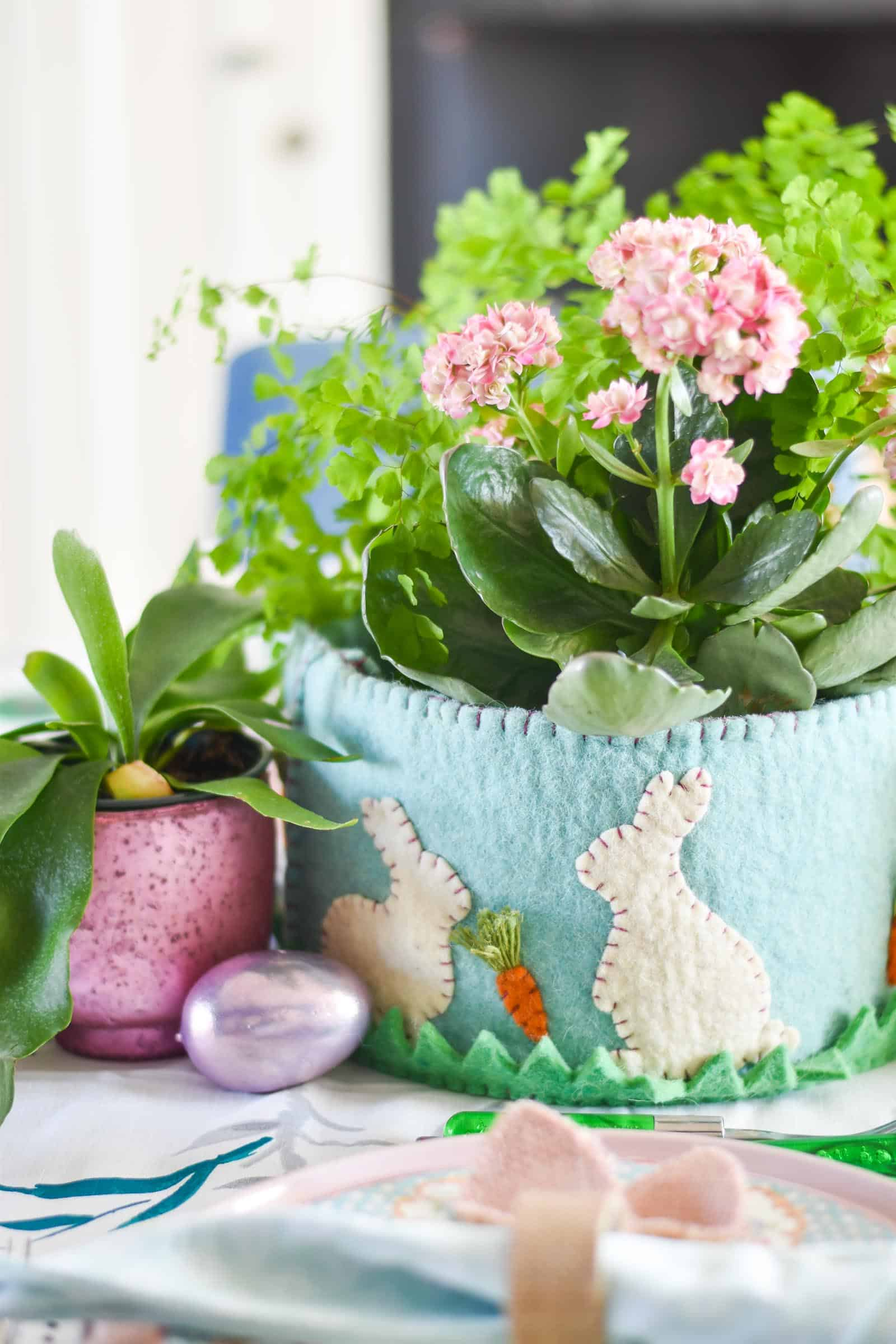 felt easter basket centerpiece