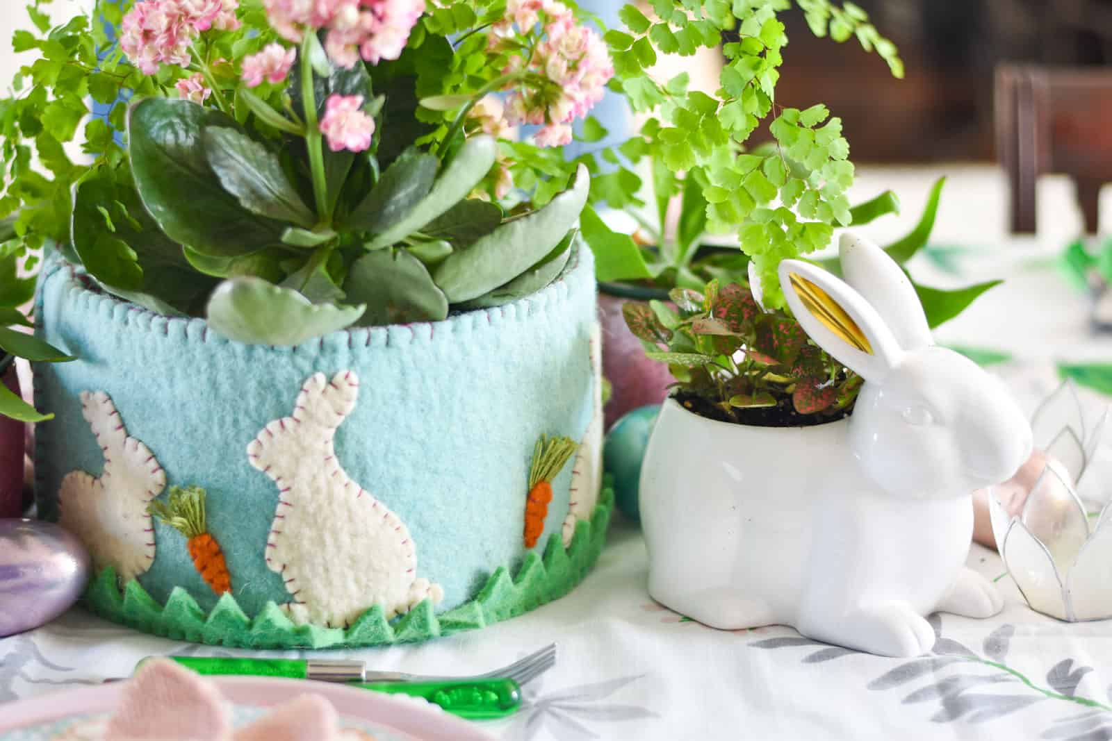 floral filled spring tablescape for easter