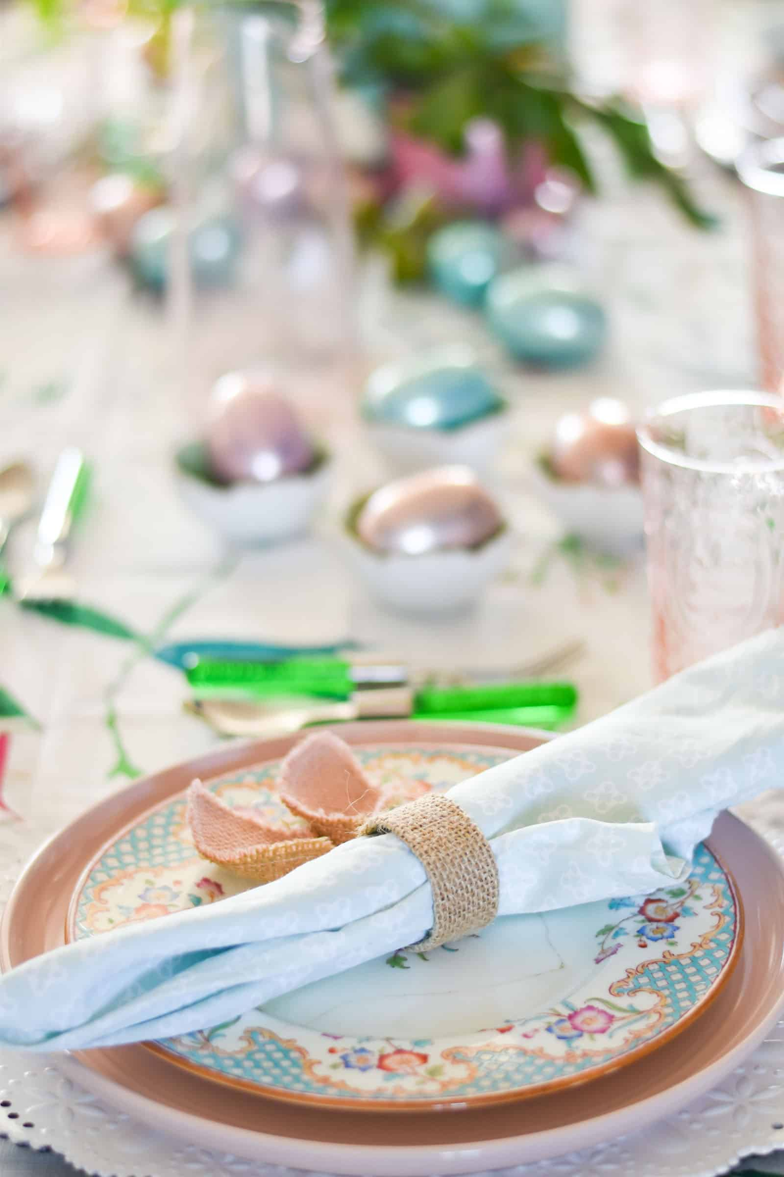 napkin on easter table