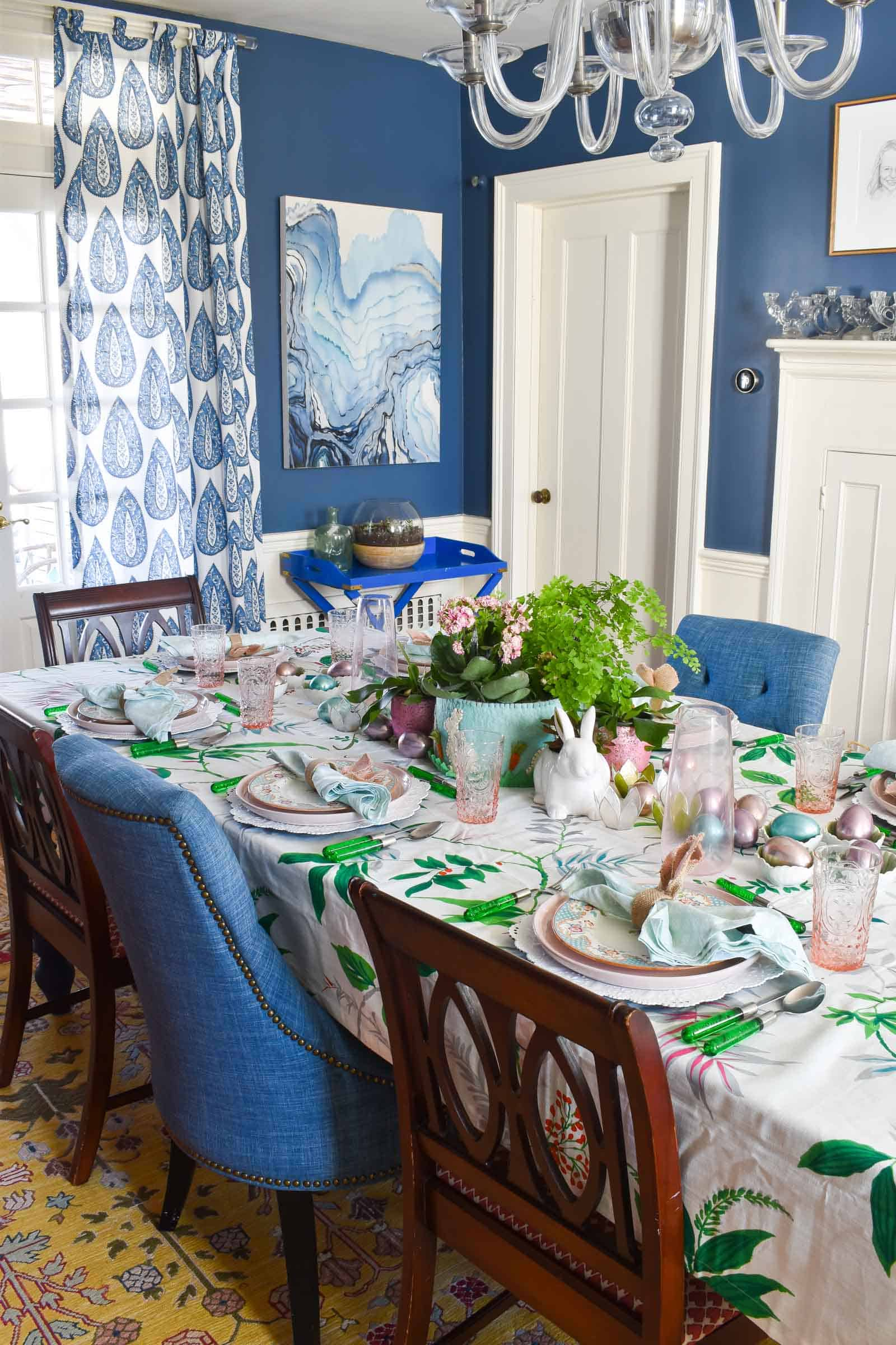 overview of spring tablescape