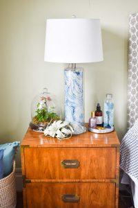nightstand in master bedroom