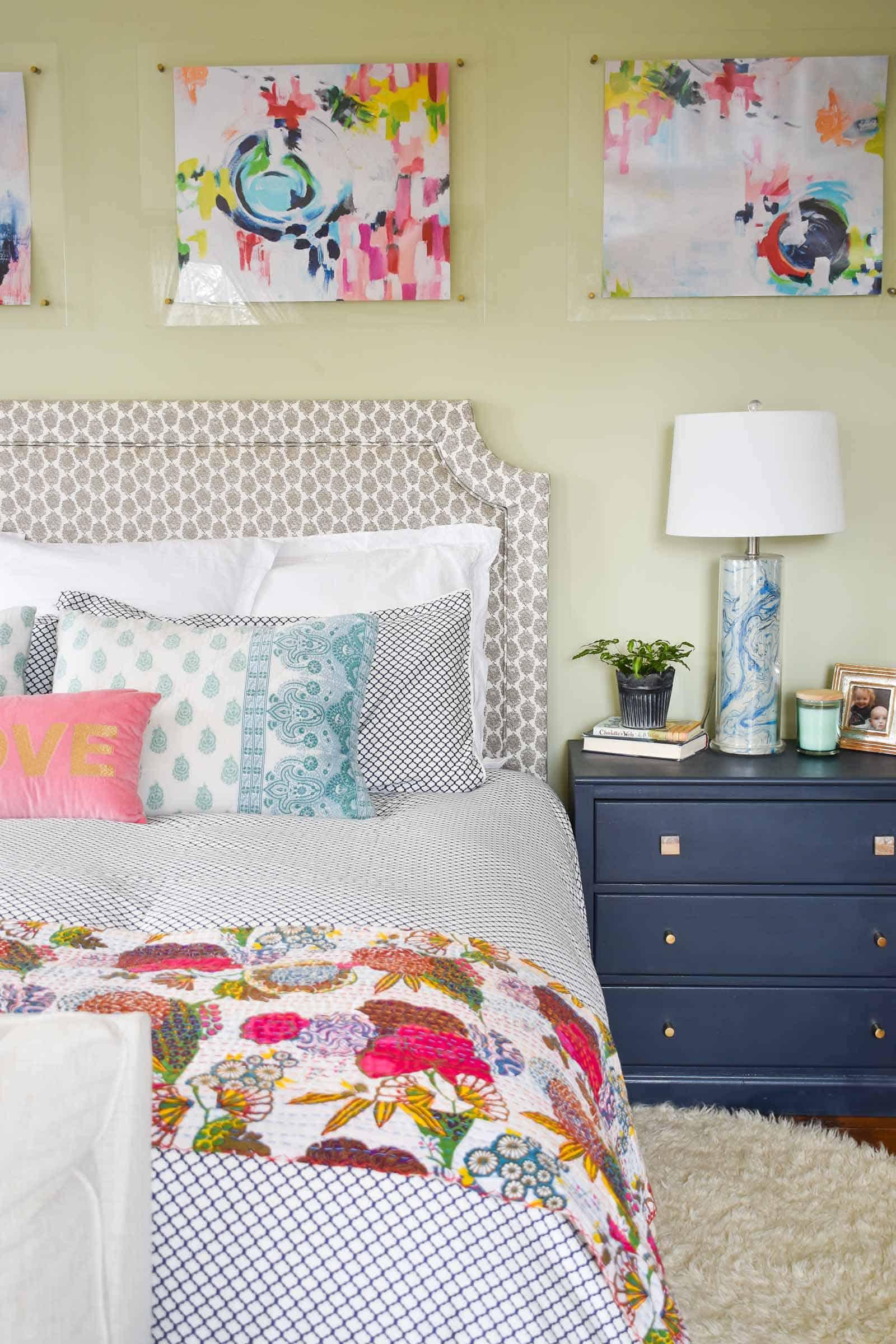 spring details in master bedroom refresh