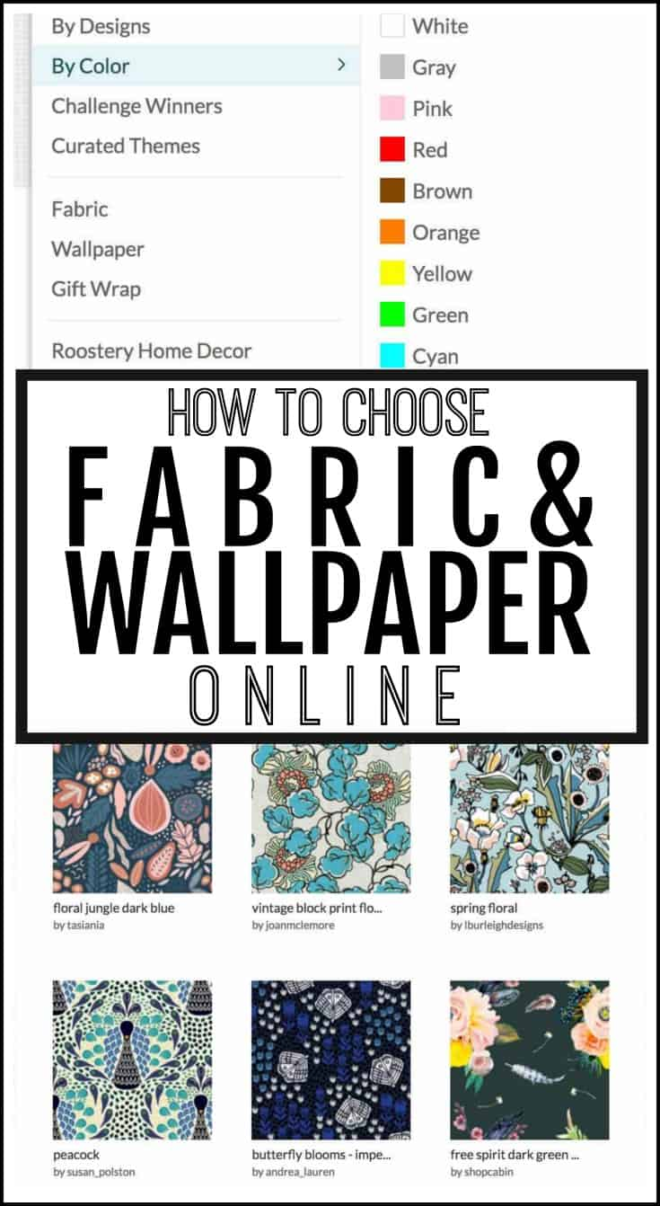 how to choose fabric and wallpaper online