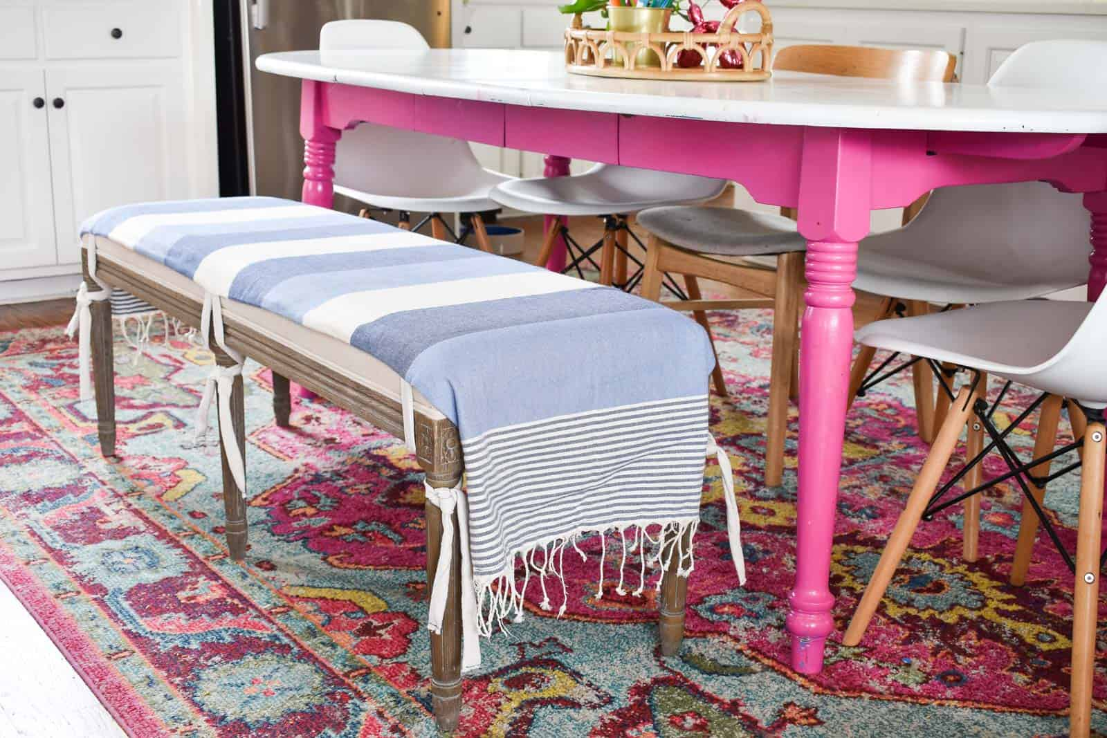 Stupendous Fabric Bench Seat Cover At Charlottes House Caraccident5 Cool Chair Designs And Ideas Caraccident5Info