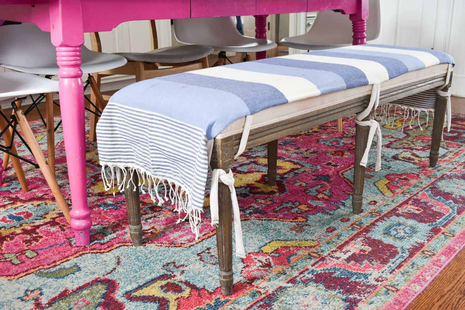 hand sewn bench seat cover