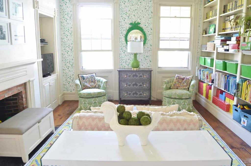 family room with kids in mind