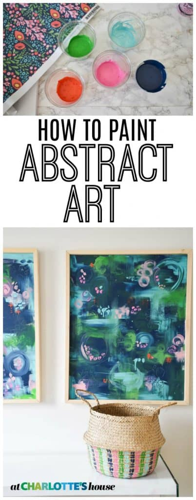 Paint your own bright and colorful abstract art