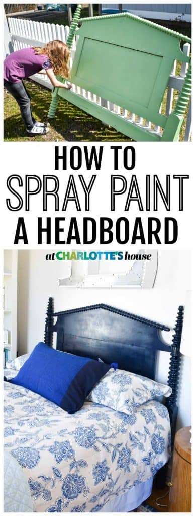 three easy steps to spray painting and transforming a head board