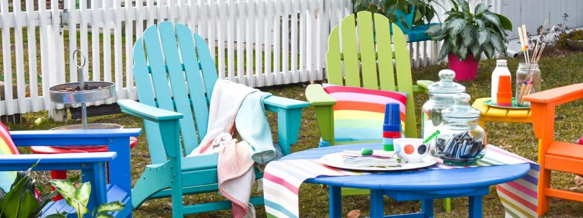 Colorful Patio Furniture and S'mores